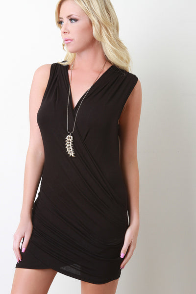 Wrapped Crisscross Mini Dress
