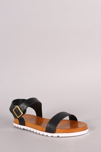 Bamboo Jelly Ankle Strap Footbed Sandal