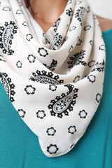 Paisley Pattern Self-Tie Scarf
