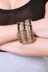 Linked Ring Tube Chain Bracelet