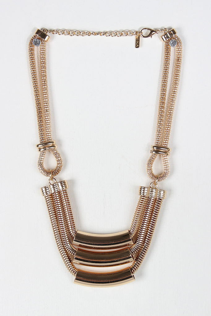 Tube Chain Chunky Geometric Necklace