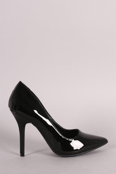 Wild Diva Lounge Patent Pointy Toe Stiletto Pump