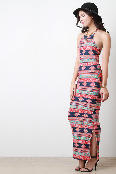 Paisley Bohemian Strappy Back Maxi Dress