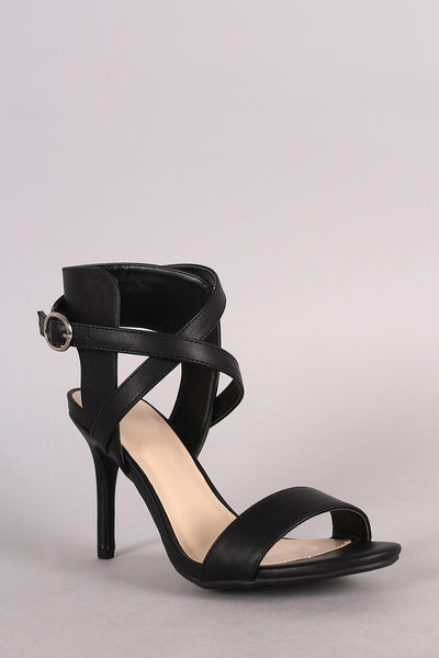 Wild Diva Lounge Crisscross Single Sole Heel