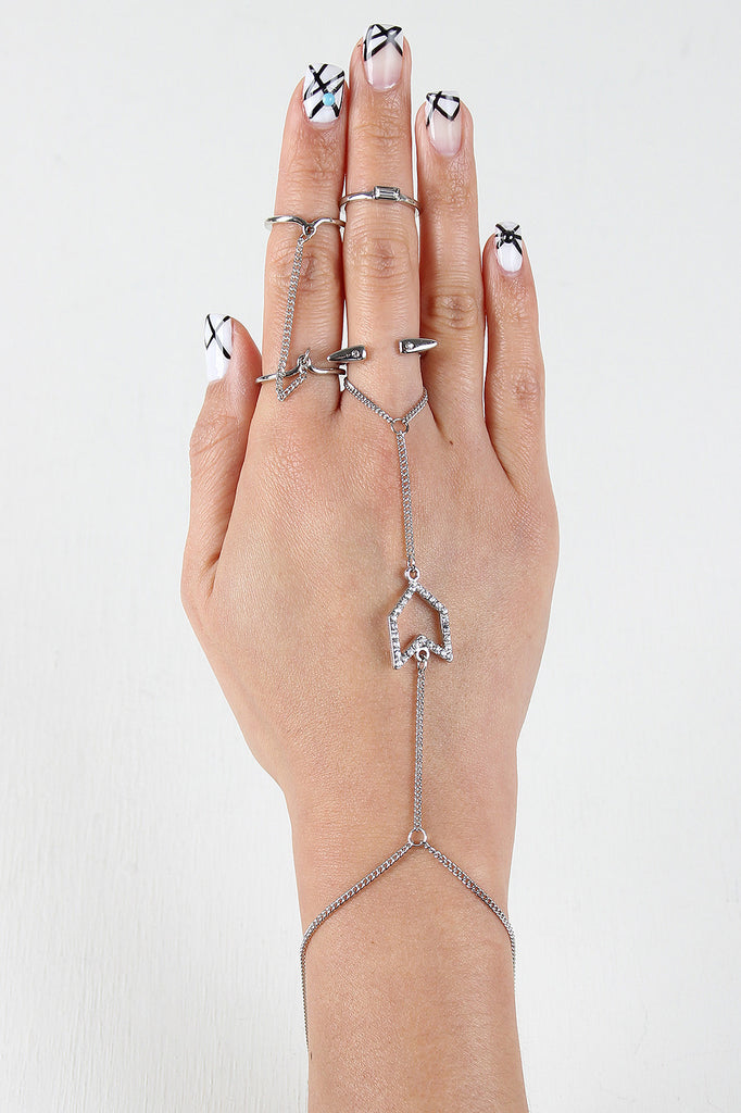 Fly True Hand Chain and Ring Set