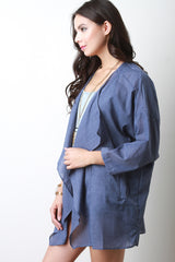 Lightweight Linen Drape Jacket