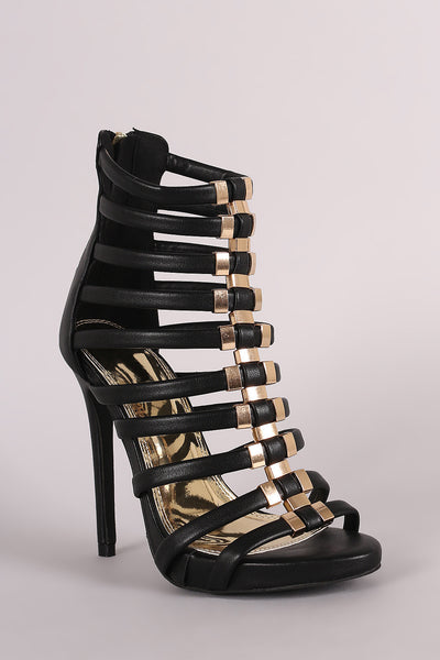 Liliana Hardware Accent Strappy Stiletto Heel