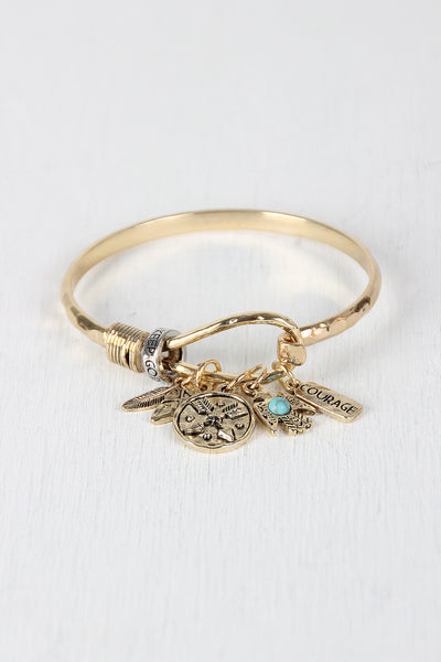 Brave Little Warrior Charm Bangle