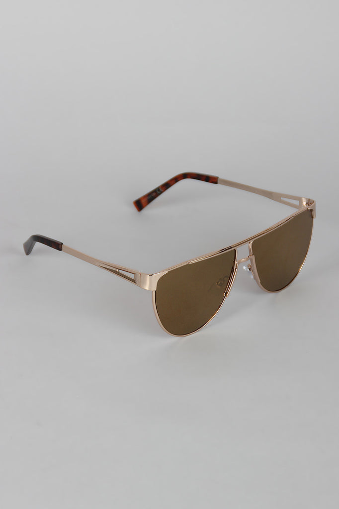 Semi-Aviator Metallic Sunglasses