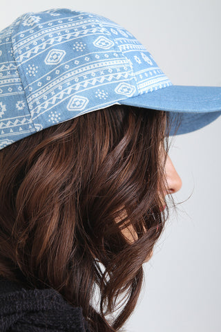 Aztec Denim Baseball Cap
