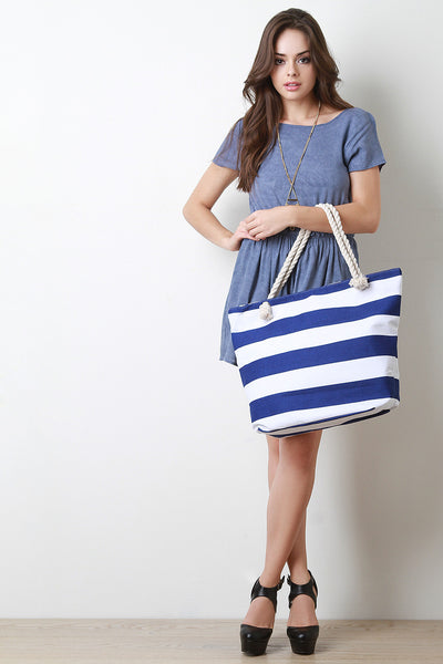 Oversized Stripes Tote Bag