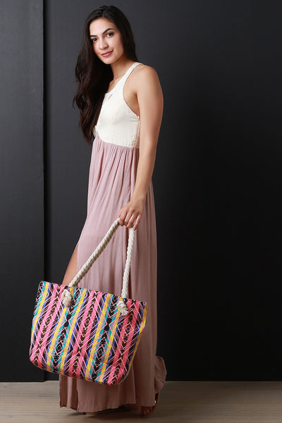 Striped Tribal Tote Bag