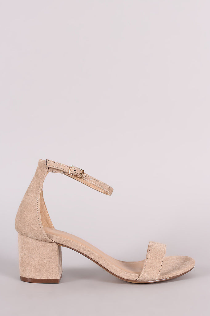 Single Band Open Toe Chunky Heel