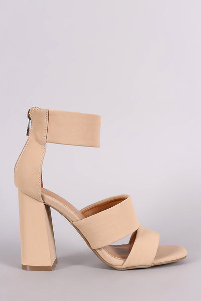 Bamboo Double Band Ankle Cuff Chunky Heel - JDI Threads