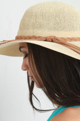 Braided Tie Straw Summer Hat