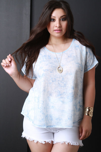 Boxy Marble Dyed Simple Tee