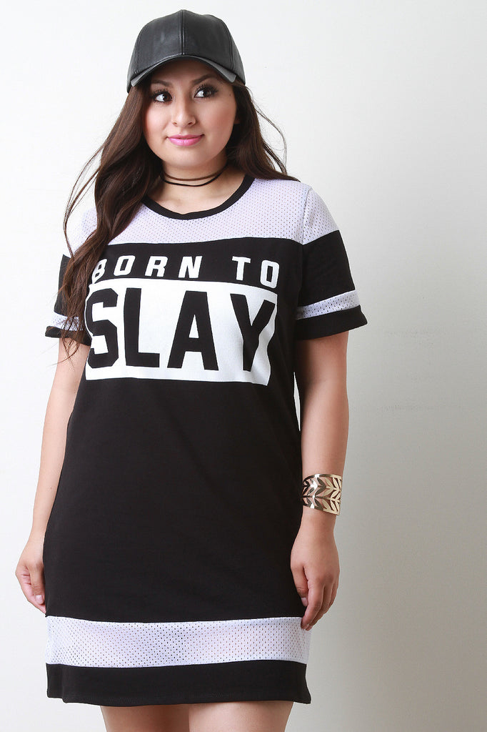Born To Slay Short Sleeve Dress
