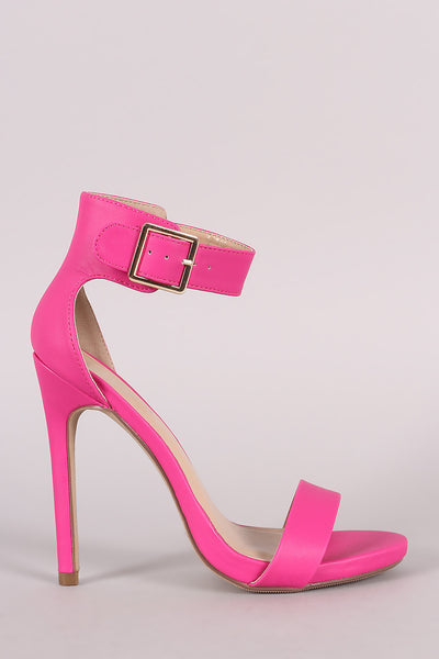 Ankle Strap Open Toe Stiletto Heel