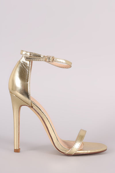 Liliana Double Strap Open Toe Stiletto Heel