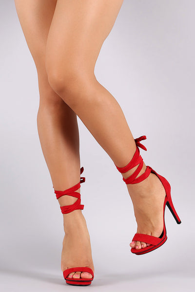 Wild Diva Lounge One Band Ankle Wrap Stiletto Heel