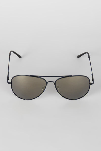 Classic Double Bridge Aviator Sunglasses