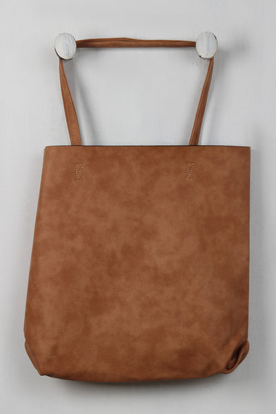 Vegan Leather Tote Bag Set