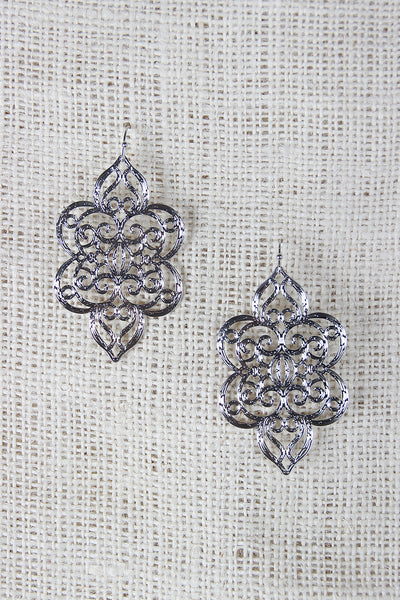 Filigree Laser Cut Dangle Earrings