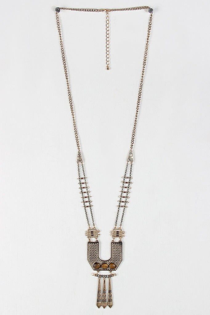 Tribal Bar Statement Necklace Set