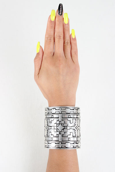 Aztec Metal Cuff Bracelet - JDI Threads