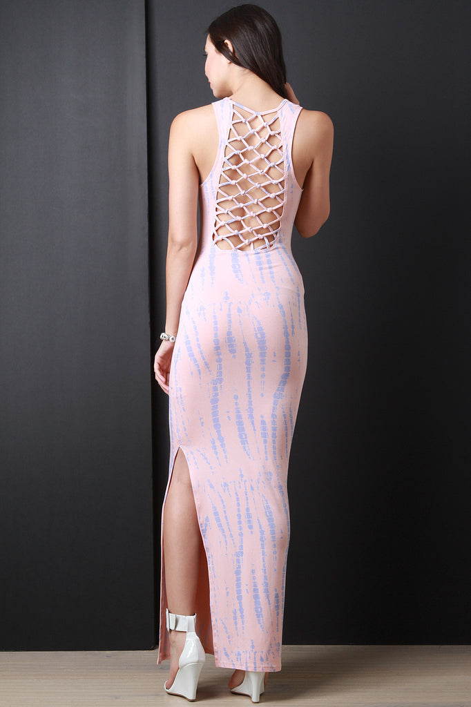 Knotted Strappy Back Maxi Dress
