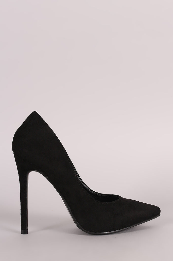 Suede Classic Pointy Toe Stiletto Pump