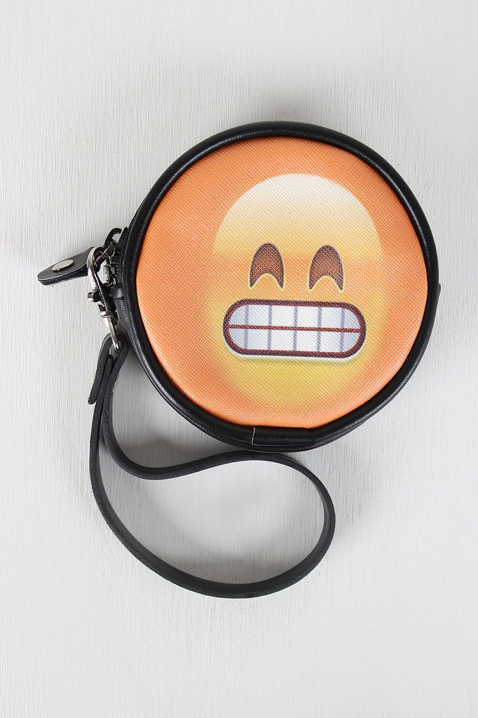 Grinning Face Emoji Coin Purse