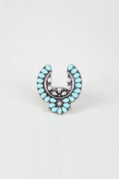 Turquoise Flying Eagle Ring