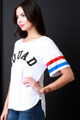 Squad Graphic Stripe Short Sleeves Tee