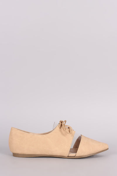 Liliana Lucite Inset Lace-Up Oxford Flat