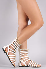 Strappy Chained Snake Gladiator Flat Sandal