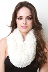 Textured Fur Infinity Scarf