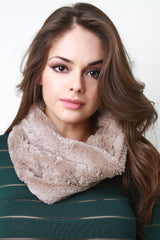 Thin Faux Fur Infinity Scarf