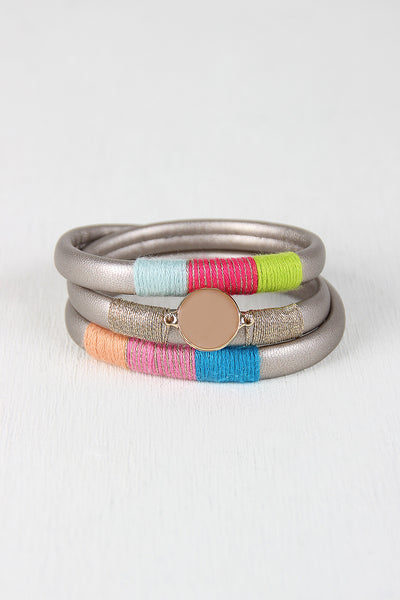 Vegan Leather Magnetic Wrap Bracelet
