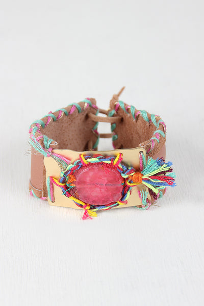 Crafty Leather Cuff Bracelet