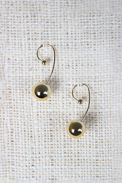 Simple Sphere Dangle Earrings