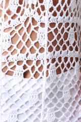 Semi-Sheer Crochet Maxi Dress