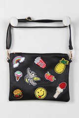 Graphic Patch Convertible Crossbody Clutch