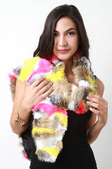 Colorful Fur Scarf