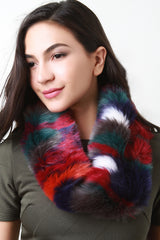 Colorful Furry Circle Scarf