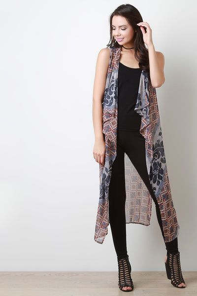 Bohemian Diamond Waterfall Vest