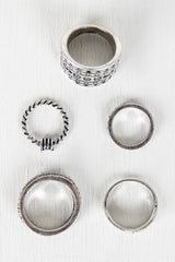 Antique Silver-Tone Ring Set - JDI Threads