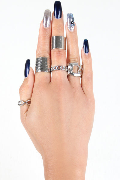 Chain Link Ring Set