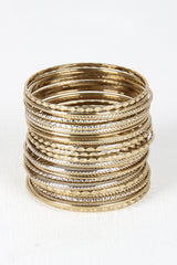 Etched Bangle Set