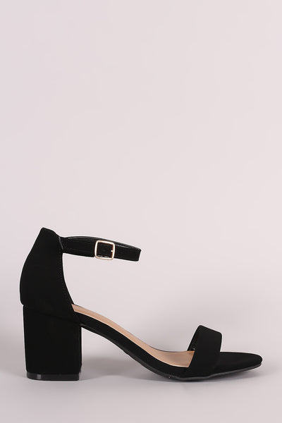 Bamboo Ankle Strap Open Toe Block Heel - JDI Threads